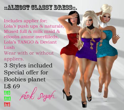 Almost Classy colour pack vendor - boobies planet