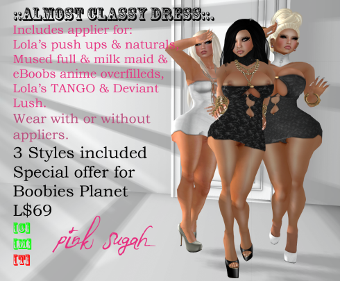 Almost Classy greyscale pack vendor for boobies planet