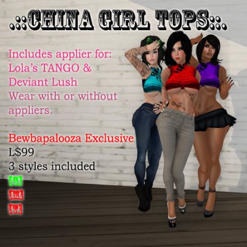 china girl - precious stones - bewba vendor