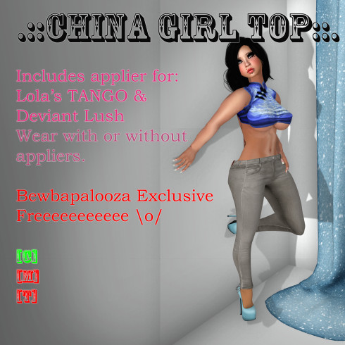 china girl - water - bewba freebie poster