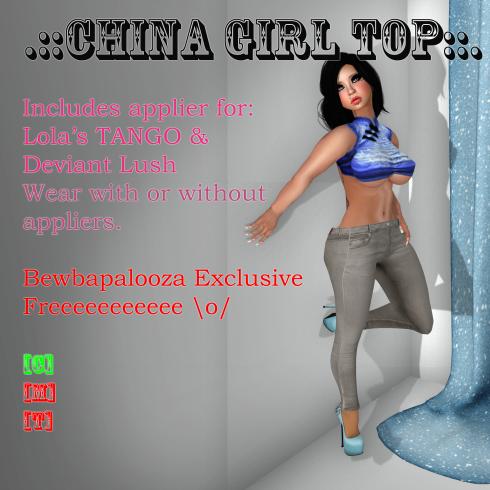 china girl - water - bewba freebie poster