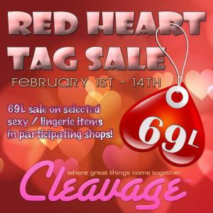 Cleavage Red Heart Tag Sale Poster