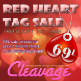 cleavage-red-heart-tag-sale-poster