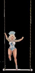 Trapeze vendor - Blue