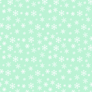 _Z Best_ Snowflakes White on Frosty Green