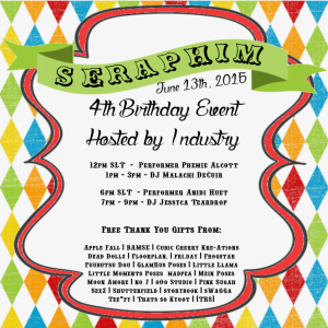 Seraphim Bday Party Invite